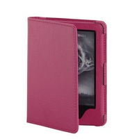 For 2014 New Kindle 6 inch Case Premium Quality Lychee Stand Leather Case Free DHL Shipping 20pcs/lot