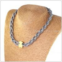 "40cm(15.7"")*10mm 40g 316LStainless Steel 18K Gold Plated Lovely Bear Silver Net Chain Necklace For Women Girl,New Christmas Gift"