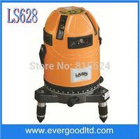 LS628 5 cross & Plumb Laser laser lines Laser Levels Laser wavelength 635nm DHL/EMSFree Shipping