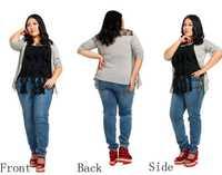 Fashion plus size Women Stretch Jeans zipper lace pocket skinny demin trousers slim fit pencil pants size 36-46 free shipping!