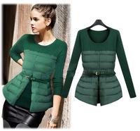 New Fashion Women Slim Winter Down European&American OL Style Women Sweater Long Sleeve Female Down
