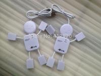 300pcs/lot Hot-selling New 4-Port Mini Hub High-Speed USB 2.0 Doll Hub Splitter Cable Adapter, Professional Computer peripherals
