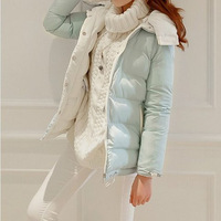 The Korea winter new women's down jacket with cap two positive and negative wear thick thin jacket women