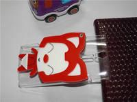 Luxury Handmade 3D cartoon hello kitty ,ali the fox, rabbit with mirror cover case for sony LT26i Xperia S , free shipping