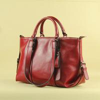 The new spring and summer 2014 leather bag leather handbag fashion handbag shoulder bag