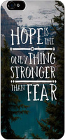 Hope Is The Only Thing Stronger Than Fear Christian Quote Bible Verses protective Case For Apple Iphone 6 4.7 Inches