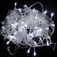 5pcs/lot 100pcs LED 10M White LED String Fairy Lights Christmas Wedding Garden Party Lamp Bulb B10008