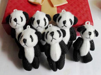 4.5cm Joint panda doll Plush Stuffed TOY DOLL  Wedding Gift & Bouquet Decor TOY DOLL
