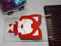 Luxury Handmade 3D cartoon hello kitty ,ali the fox, rabbit with mirror cover case for Sony Xperia T3 free shipping