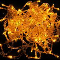 5pcs/lot 100pcs LED 10M Yellow LED String Fairy Lights Christmas Wedding Garden Party Lamp Bulb B10006