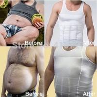 Free Shipping men Slimming Body Shaper underwear waist training corsets Men waist and abdomen underwear Less beer belly 2 pcs
