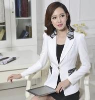 Formal Female White Blazer Feminino Blaser Women Blazers & Jackets Winter 2014 Fashion Ladies Office Uniform Styles