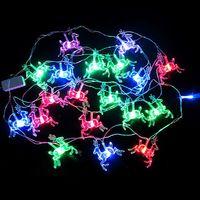 5pcs/lot 5M 20 LED Multi-color Xmas Deers Fairy String Lights Christmas Party Lamp ZWQ10104