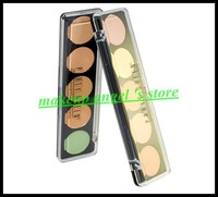 New !!! Party Queen Concealer Cream 5 Cream Concealer Palette Portable Dark Circle Treatment Concealers Palettes Free Shipping