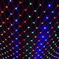 3pcs/lot 1.5*1.5M Multi Color LED Net Mesh Light Xmas Party Wedding Garden String Lights ZWQ10110