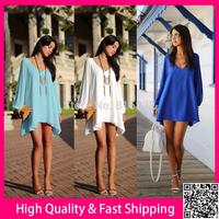 Black White Blue Azure Women Summer Dress Sexy Vestidos Party Club Mini Dresses Long Sleeve Cut Out Casual Dress Free Shipping