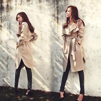 Foreign trade  AliExpress Hot Women yards loose khaki windbreaker Europe Korea style