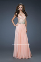 featuring intricate beading across the bodice and gorgeous stones around the waist evening dresses 2015 FSL-329