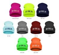 2014 New Women Men Hip-hop Ski Winter Novelty Look BAD HAIR DAY Letter Fluorescent Knitted Hat Soft Elastic Beanie 22 Colors HOT