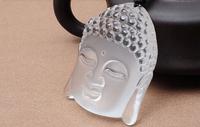 Natural Clear White Crystal Quartz Buddha Head pendant men fashion jewelry pendant +free rope Unique