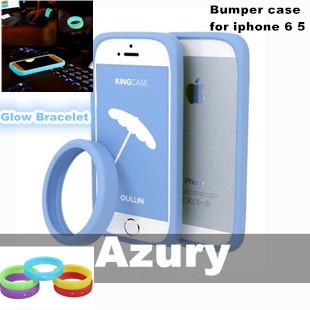 2014 Feshion Glow Luminous Bracelet Case for iphone 6 5 5S 4 Samsung S3 S4 Nokia Silicone Bumper Frame Phone Cases 5pcs/lot(China (Mainland))