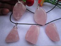 Natural Crystal Rose Quartz Stone pendant men women fashion jewelry making DIY ornament wholesale
