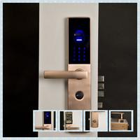 Fingerprint digital door  lock, three ways to open door: fingerprint ,password,keys, easy to install