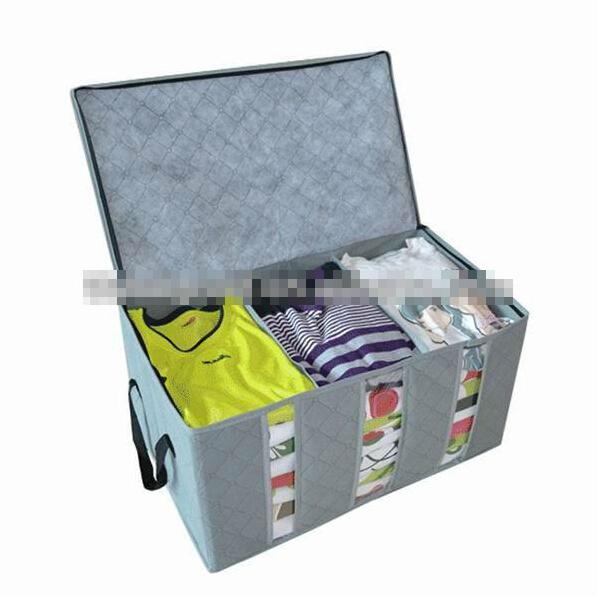 Fold box 3big lattices Bamboo Charcoal Fiber Non-Woven Storage Boxes for Bra,Socks,Briefs,Scarf,underwear,necktie Free Shipping(China (Mainland))