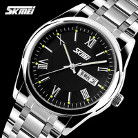 Genuine fashion casual men's watches waterproof dual calendar watches quartz watch students watch male table luminous