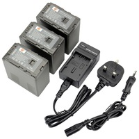 DSTE 3PCS VW-VBG6 Li-ion Battery and EU&UK Charger for Panasonic AG-HMC73MC AG-HMC-150CM AG-HMC151E AG-AC160MC AG-HMC153MC
