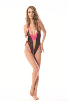Hot sex products sexy costumes women sexy underwear lady BLACK sexy lingerie transparent conjoined set  OS217