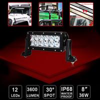 2X 36W off-road light Bar Pickup car Van Camper SUV AWD UTV Wagon 3600lm 4WD 12V/ 24V ATV Cree LED Work light 4x4 Spot Beam