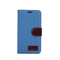 Jeans Cloth Flip Wallet Stand PU Leather Case Cover For LG G3.