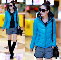 2014 New Fashion Women Down Jacket For Winter 100% High Quality Candy Color Down Coat Both Sides Wear Winter Coat Women