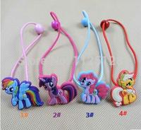 4pcs/lot My Little Pony Girls Elastic Hair Bands Fashion Cartoon kids lovely headwear& Accessories