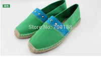Fashion women  espadrilles , handmade rivet hemp-soled breathable casual canvas shoes, size 35-39
