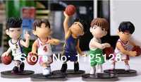 Free Shipping Japanese Anime Slam Dunk Ryonan basketball team PVC Action Figures Dolls Boys Toys Doll Kids gift 5pcs/set