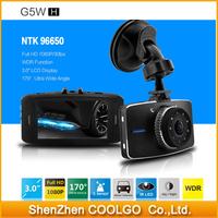"Novatek 96650 Full HD 1080P G5WH Car Camera Video Recorder 30fps 3.0""LCD With 170 Degree+Motion Detection+Night Vision+G-Sensor"