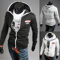 2014 New Men's Fashion Sports Hoodies Sweatshirts,Top Brand Men's Clothing.Cotton,Korean Slim Style WY34