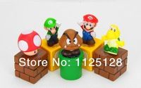 Free Shipping 5pcs/set Nintendo Video Game Mario Bro Action Figure Toys Nice Gift for kids children