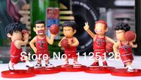 Free Shipping Japanese Anime Slam Dunk Shohoku basketball team PVC Action Figures Dolls Boys Toys Doll Kids gift 5pcs/set