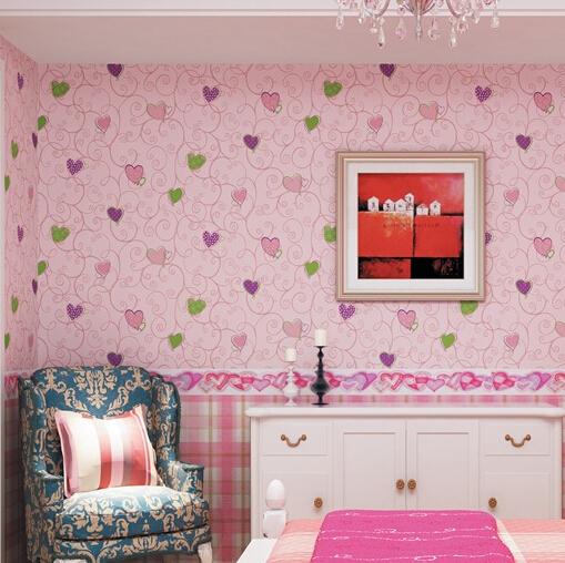 buy 3 colors modern kid wallpaper for