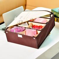2014 Korean underwear storage box cases with cover for  bra socks underwear ,clothing  Organizer case ,storage box Free Ship