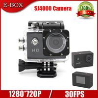 "Free Shipping SJ4000 Camera Style Video Sport camera HD 720P 1.5""LCD Diving 30Meter Waterproof Helmet Action camera"