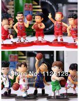 Free Shipping Japanese Anime Slam Dunk PVC Action Figures Dolls Boys Toys Doll Kids gift 10pcs/set