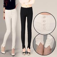 High Waist Woman'Sexy Pencil Pants Slim Ladies'Brand Stretch Skinny Pant Black/White Cotton Casual Pants Spring Autumn Capris