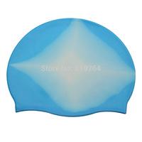 2014 Fashionable Adult Funny Rainbow Style Swim Cap