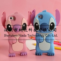 """Lilo 3D Cute Cartoon Stitch Soft Silicone Case Cover For iPhone 6 Plus 5.5inch 4.7"""" Air Soft Phone Cases Shell 1pcs/lot"""