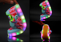LED flashing colorful light children shoes unisex soft bottom sneakers girls and boy leisure shoes lighted luminous sport shoes