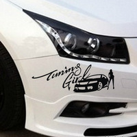 Free shipping cover scratches car stickers affixed to the front and rear bumper scratches BEAUTIFUL beauty exhaust pipe blocked